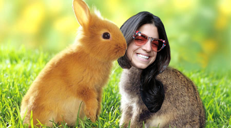 leandra-medine-as-a-bunny-man-repeller