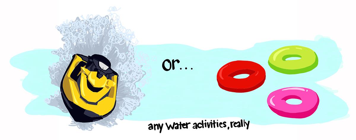 DontBringYourPhone Man Repeller WaterActivities