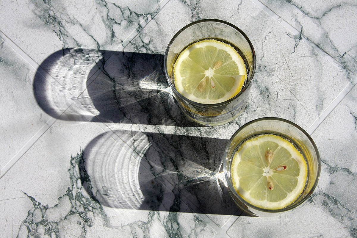 Two Glasses Of Water with Lemon Slice. (Photo by: A&G Reporter/AGF/UIG via Getty Images)