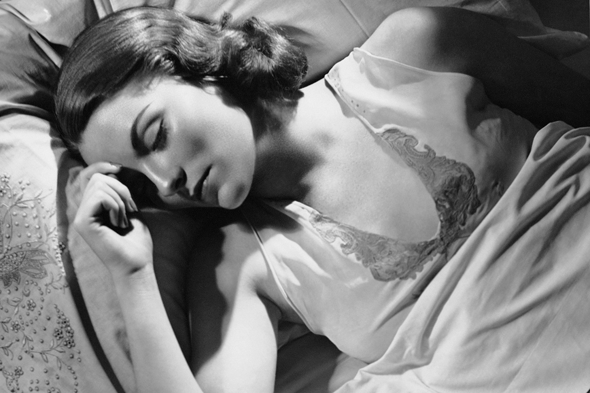 UNITED STATES - CIRCA 1950s: Portrait of woman in bed sleeping. (Photo by George Marks/Retrofile/Getty Images)