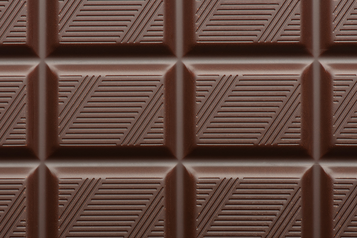 dark chocolate bar as background closeup