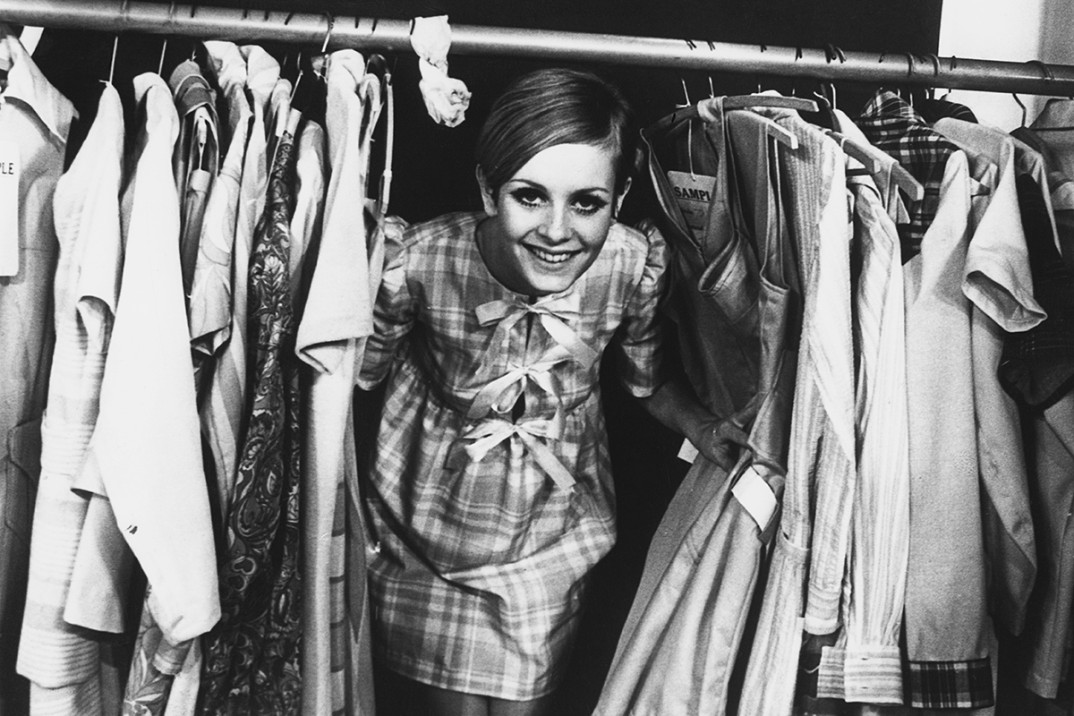 English model Twiggy at the launch of her own range of clothing, London, 16th February 1967. (Photo by Keystone/Hulton Archive/Getty Images)