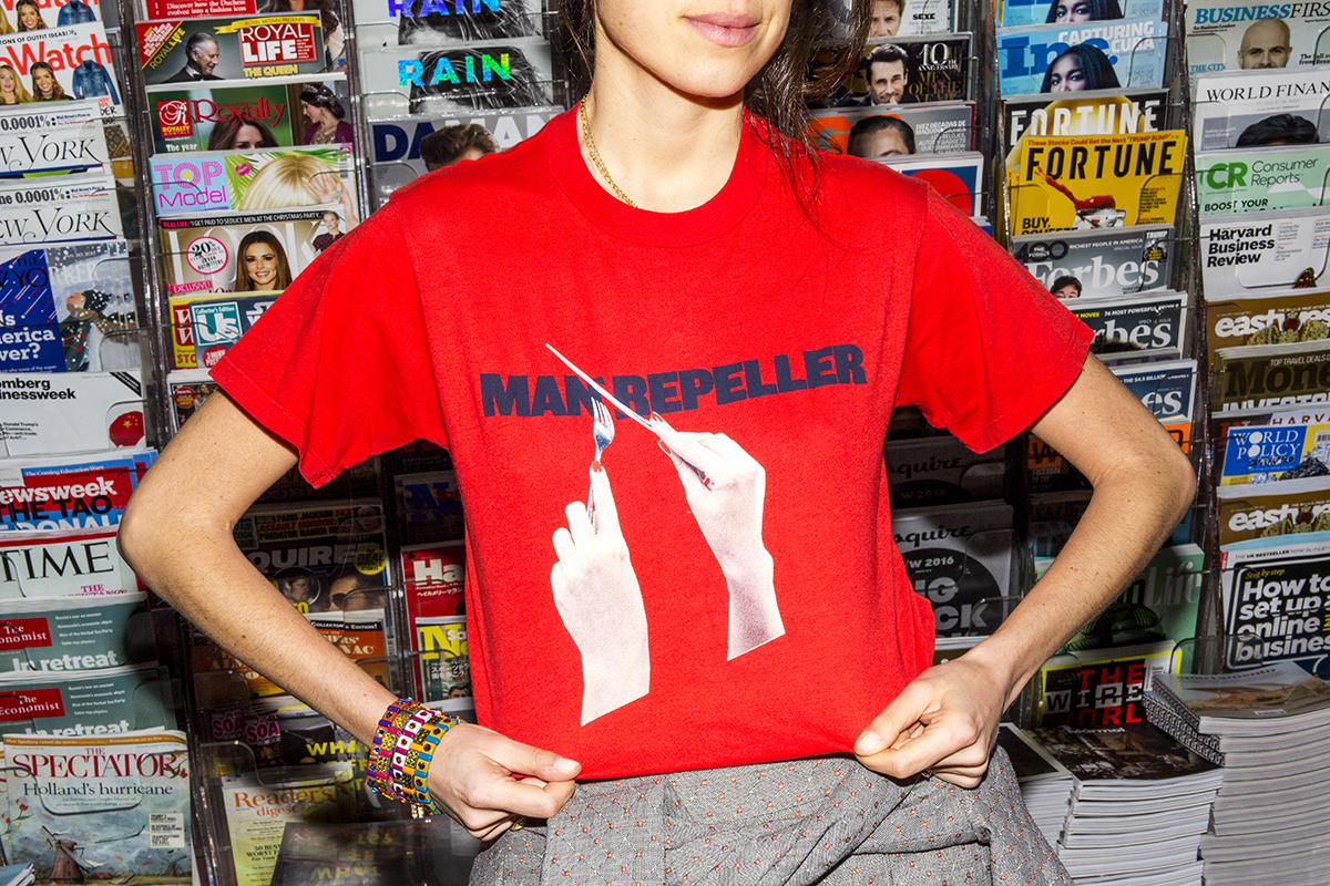 Monogram Man Repeller T-Shirt Leandra Medine-47