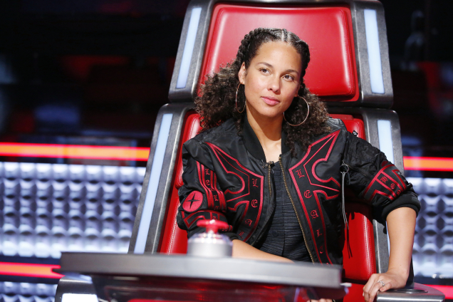 "THE VOICE -- ""Battle Rounds"" -- Pictured: Alicia Keys -- (Photo by: Trae Patton/NBC/NBCU Photo Bank via Getty Images)"
