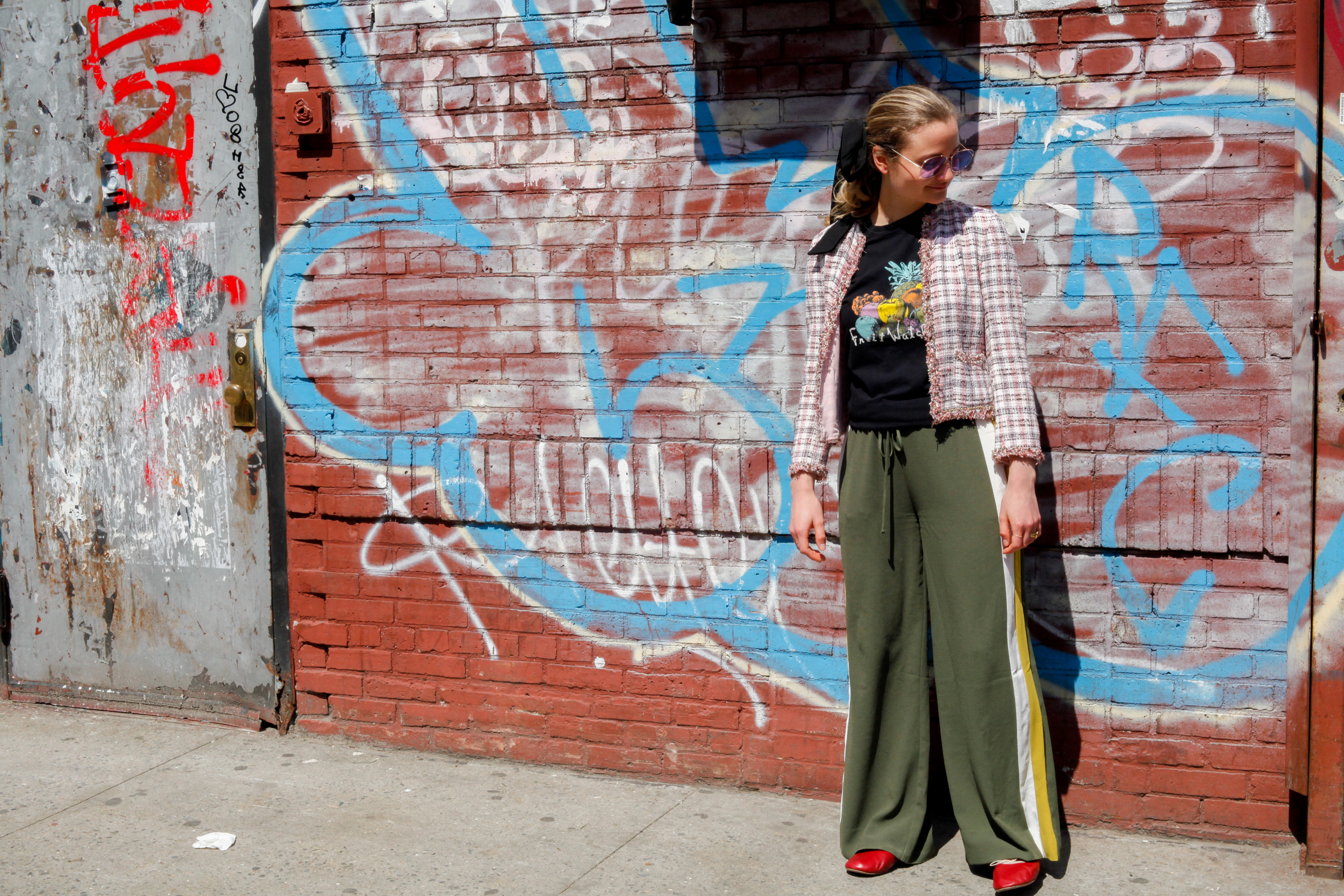 How To Wear Track Pants Harling April 2017 Man Repeller4