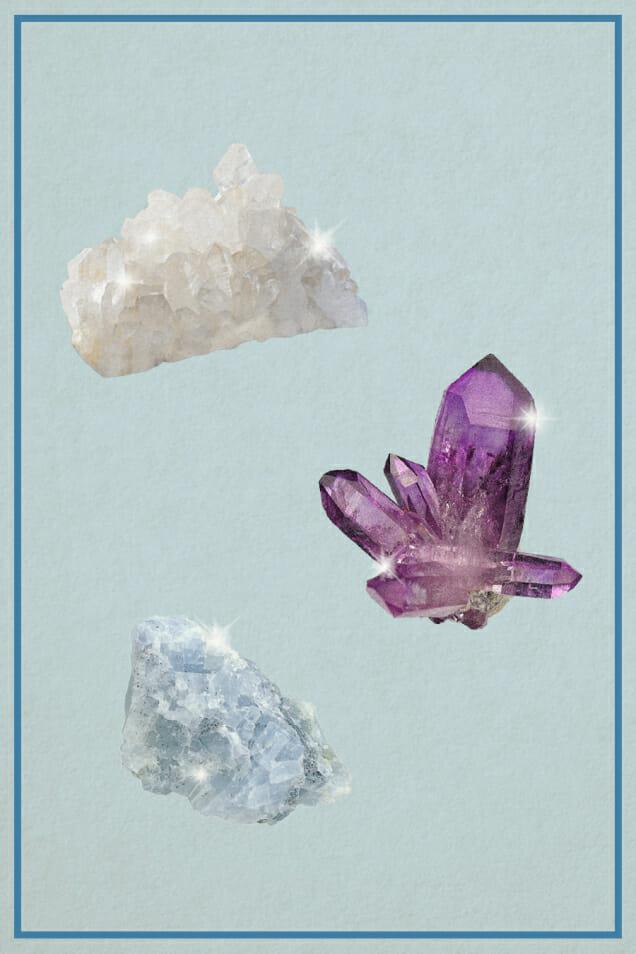 crystals amethyst quartz