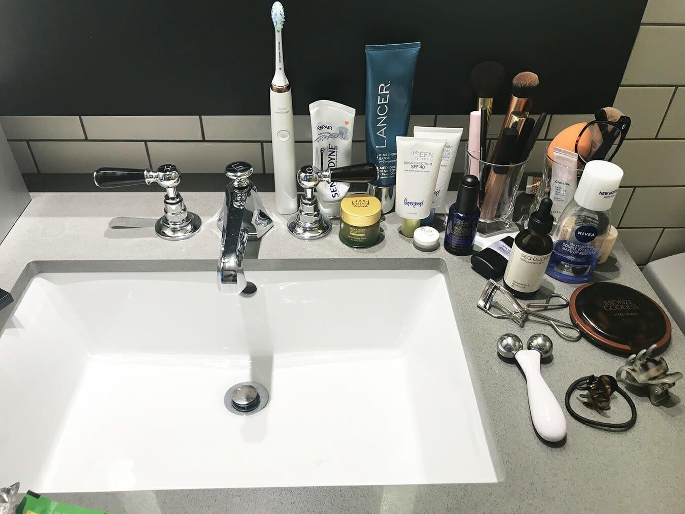 skincare sink supergoop lancer nivea tata harper estee lauder