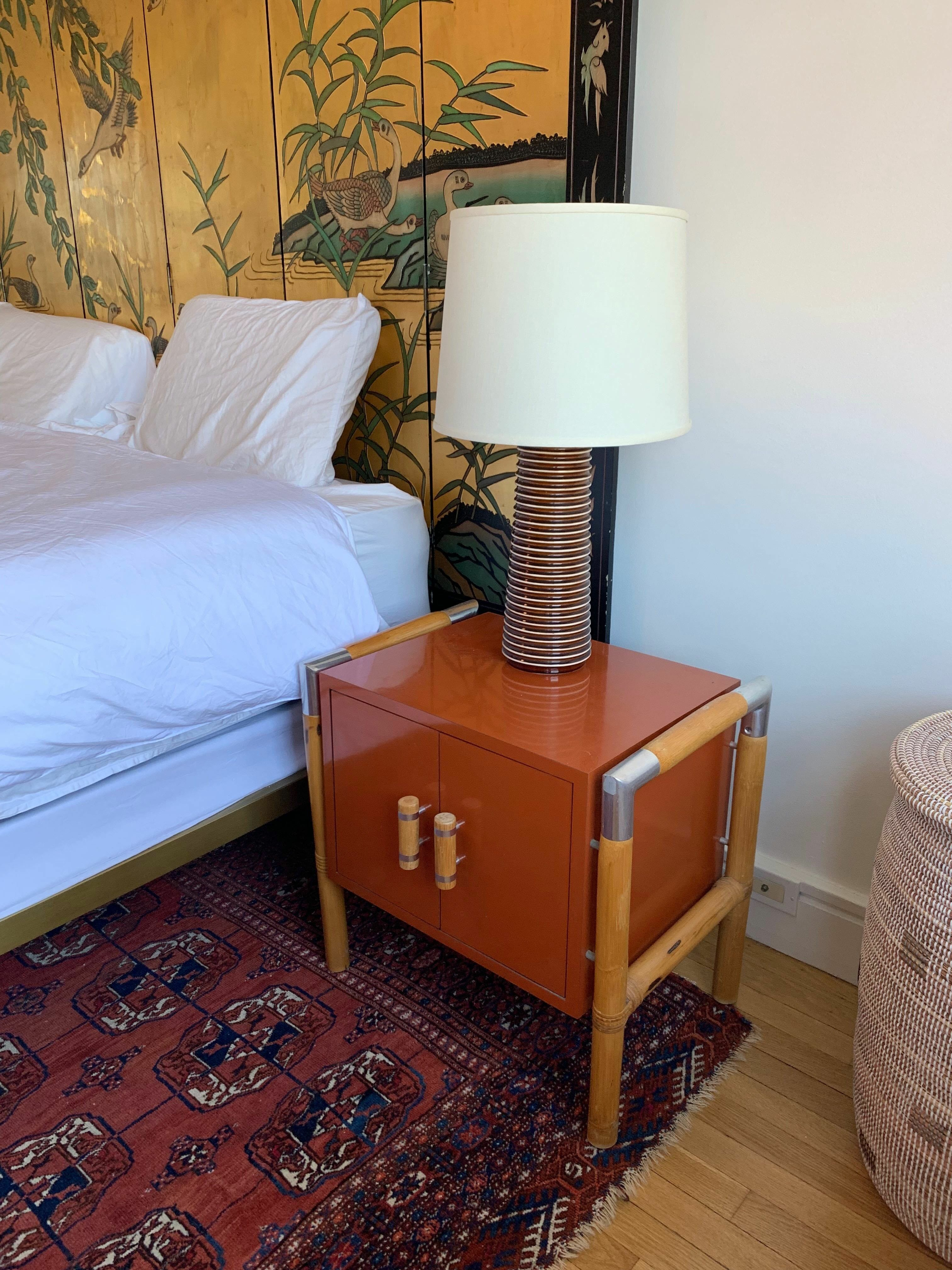 Lamp and night stand