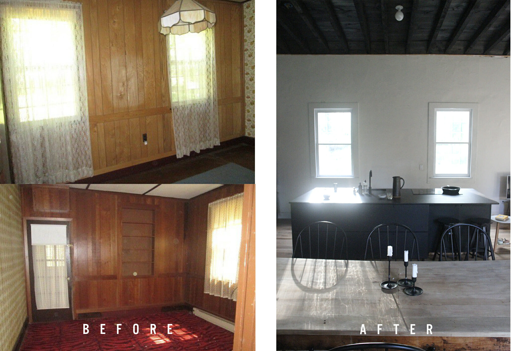 schoolhouse before & after