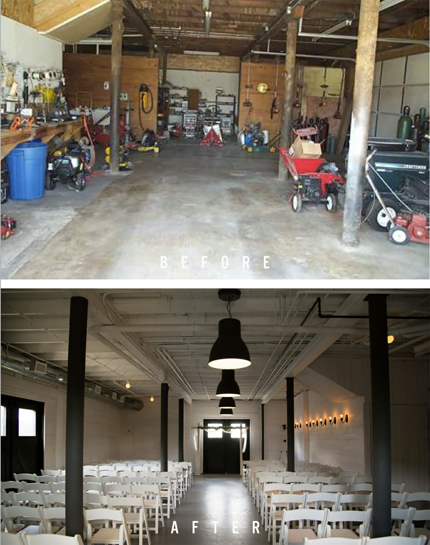 Fairlane Station before & after