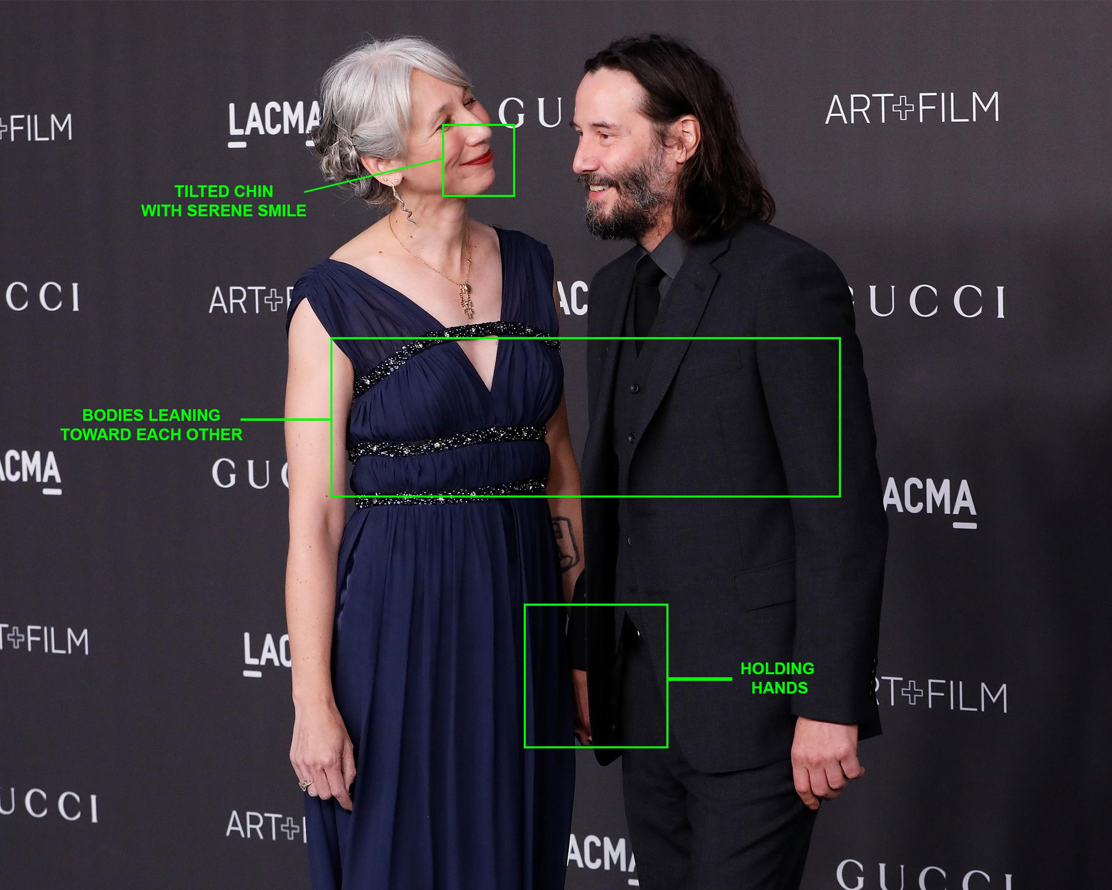 Alexandra Grant and Keanu Reeves