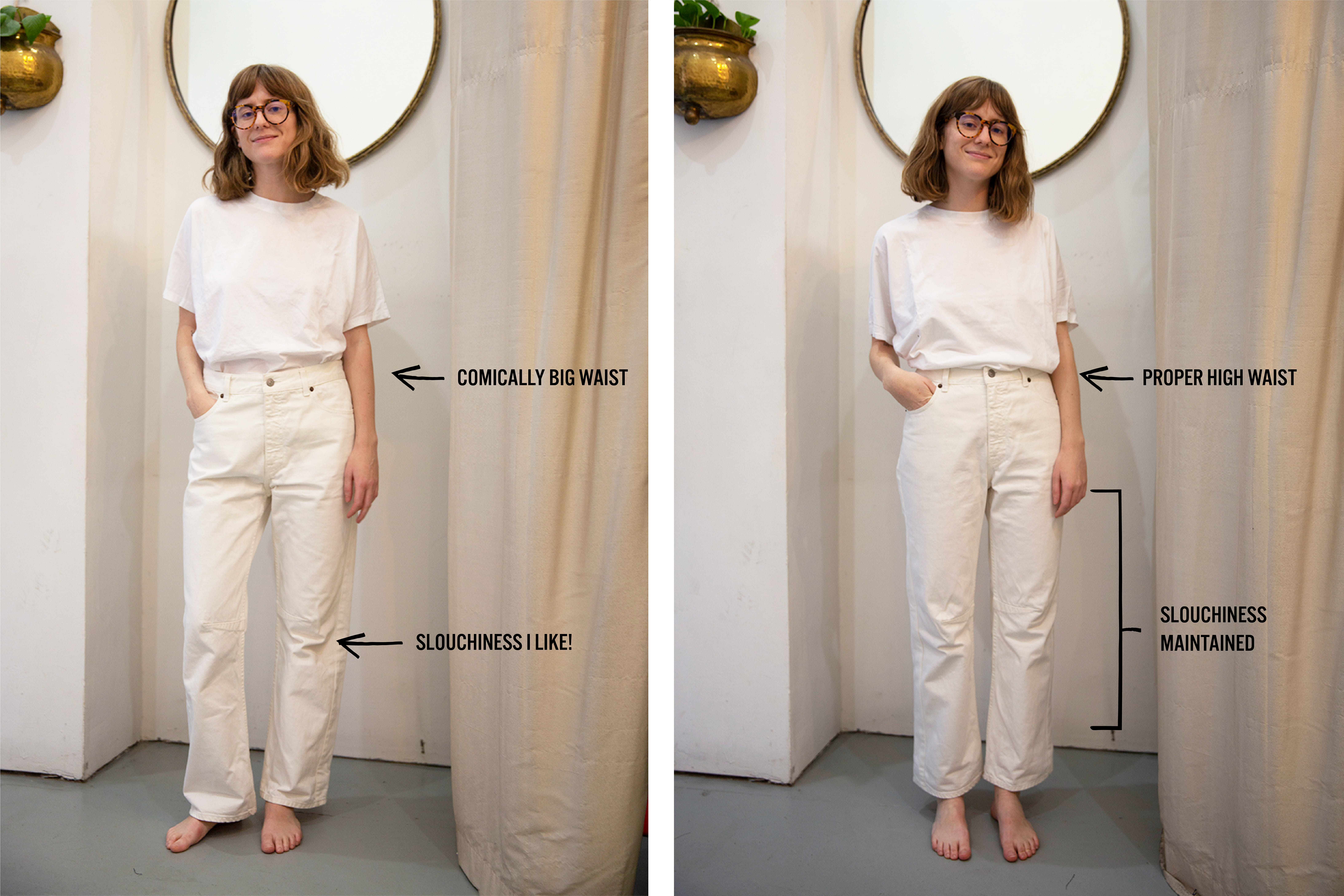 The Too-Slouchy White Jeans
