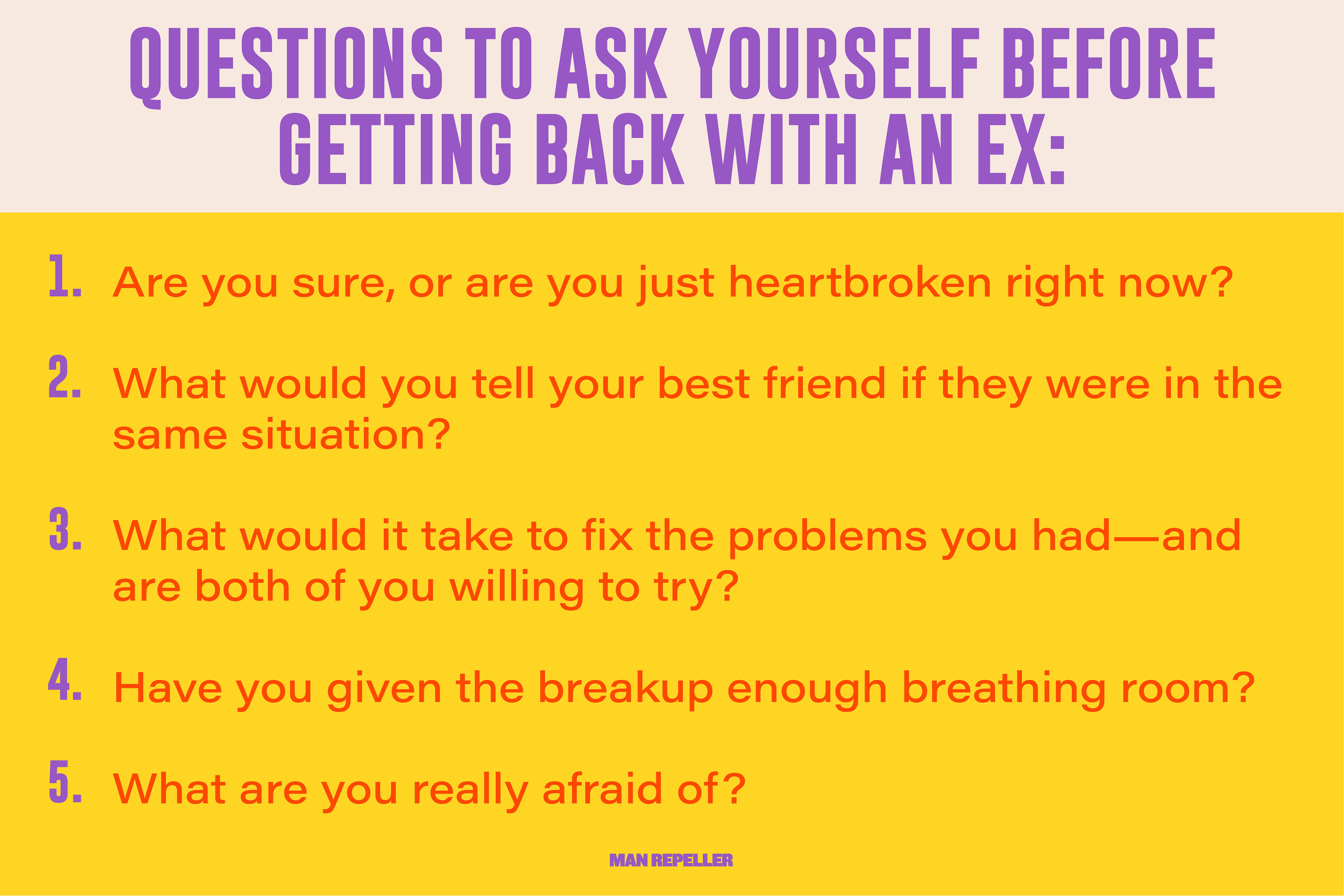 Questions to Ask Yourself Before Getting Back With an Ex: